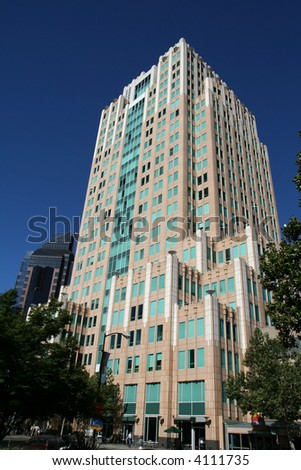 Skyscraper office building