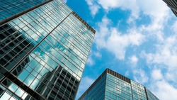 Skyscraper View Of Corporate Building