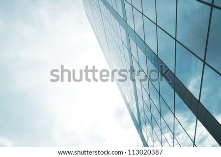 Skyscraper with light for business backgrounds and business explanations