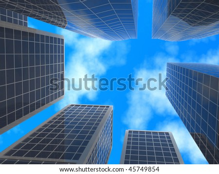 Skyscrapers.
