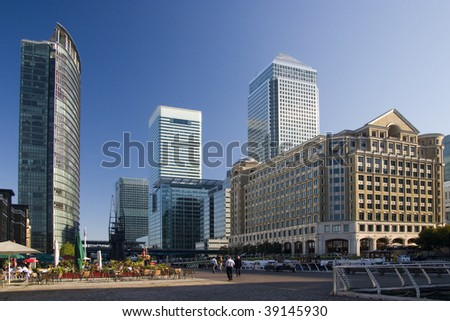Skyscrapers at Canary Wharf, London, UK