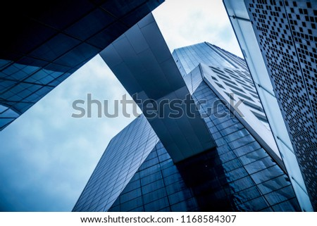 Skyscrapers from a low angle view in chengdu ,China. #1168584307