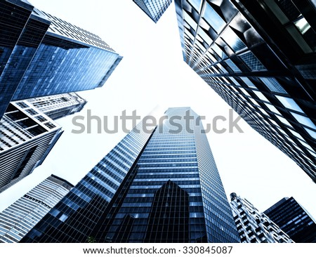 Skyscrapers from below