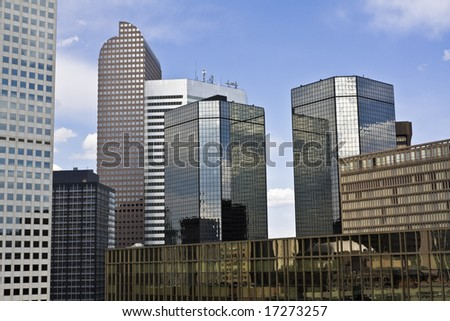 Skyscrapers in Denver, Colorado.