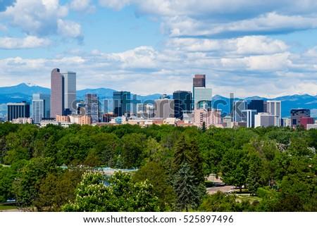 Skyscrapers in downtown Denver, Colorado