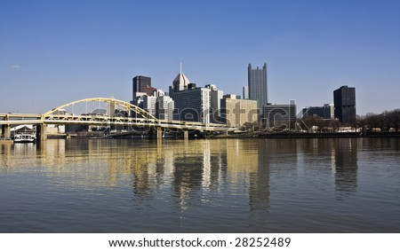 Skyscrapers in Downtown Pittsburgh, Pennsylvania. - stock photo