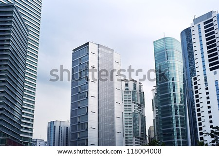 Skyscrapers in Kuala Lumpur business center