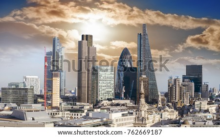 Skyscrapers in London. #762669187
