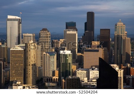 skyscrapers in seattle #52504204