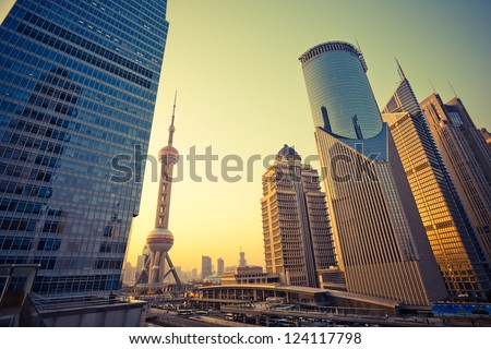 Skyscrapers in Shanghai China