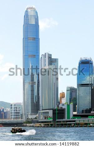 Skyscrapers in Victoria Harbor, Hong Kong