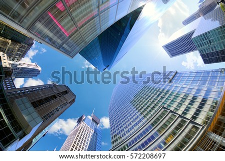 Skyscrapers near Times Square in New York City #572208697