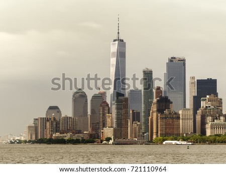 Skyscrapers of Manhattan at the Financial District #721110964