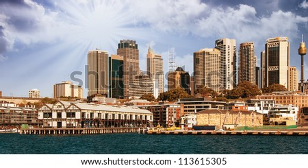 Skyscrapers of Sydney Harbour in Port Jackson - Australia