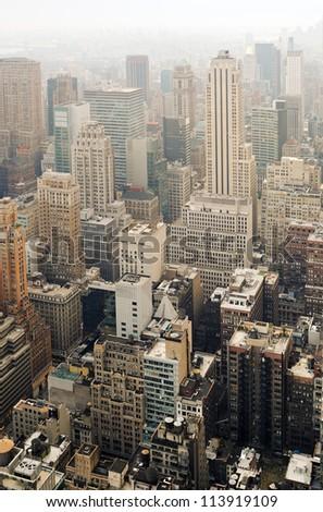 Skyscrapers on Manhattan. Midtown, Manhattan, New York City, USA.