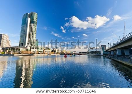 Skyscrapers on Yarra River, Melbourne