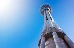 Skytower, the famous landmark of Auckland, New Zealand
