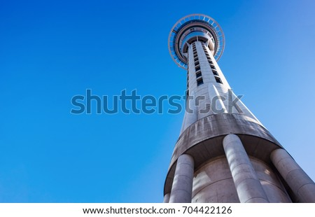 Skytower, the famous landmark of Auckland, New Zealand #704422126
