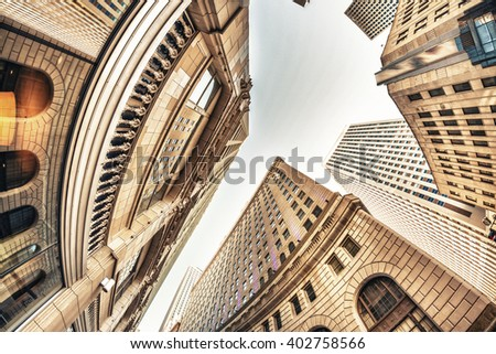 Skyward view of New Orleans Buildings.