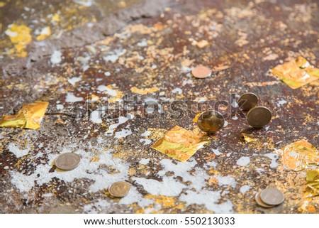 slab gold sheet  Coin medal Coin set dogma faith idea ism asia Religion measure  #550213033