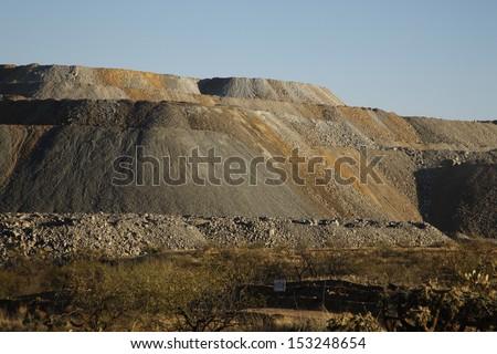 Slag heap from copper mine works, Green Valley, Arizona, USA