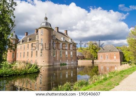Slangenburg Castle near Doetinchem, Holland on a spring day.