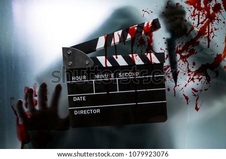 slate film,clapperboard for horror movie
