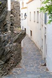 Slate wall in a mediterranean city