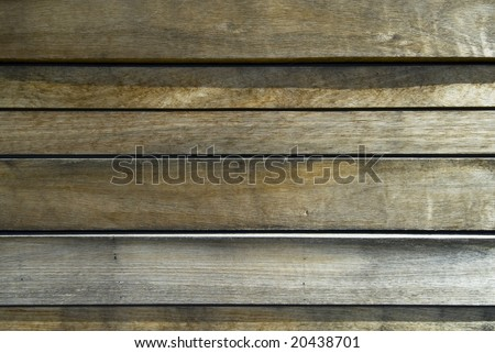 Slats of wood making abstract background