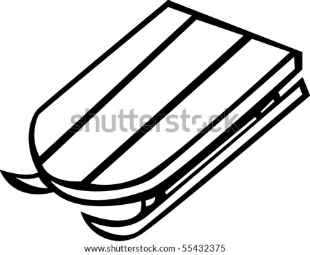 sled clipart black and white  Become a Contributor new Start