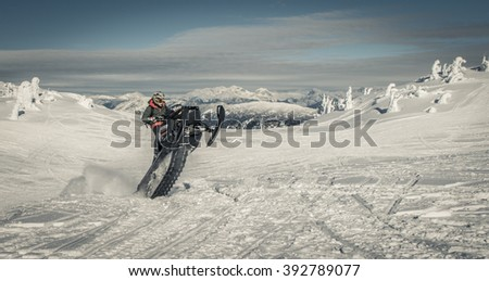 sled wheelie at revelstoke Сток-фото ©