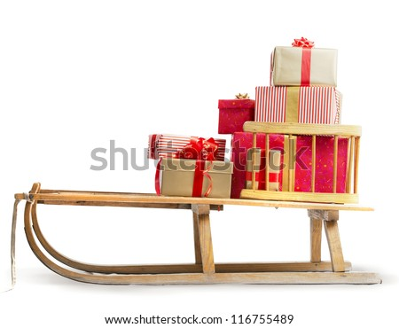 Sledge with Christmas presents