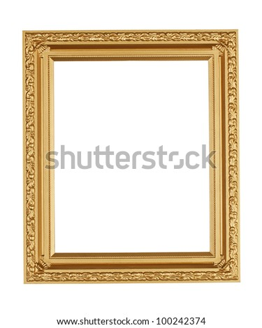 Sleek frame for pictures on a white background
