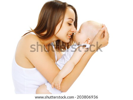 Sleep baby on hands mom