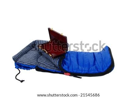 Sleeping Bag Used To Keep Warm On Camping Trips, Burgundy ...