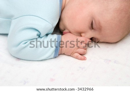 Sleeping Boy Sucking Thumb