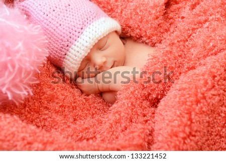 Baby Smiling in Sleep Sleeping Cute Baby Funny Pink