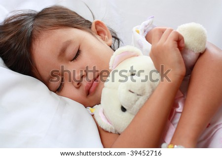 sleeping little asian girl