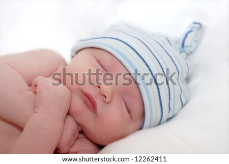 Baby Photography Ideas on Baby Boy Photography Ideas 2013 Sleeping Newborn Baby Boy Stock Photo