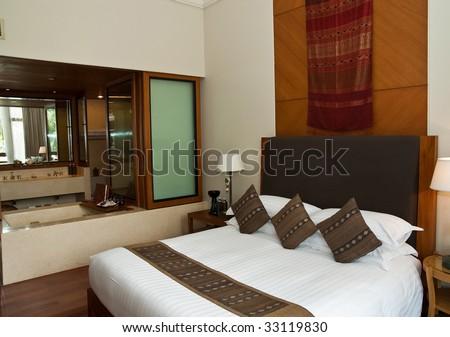 Sleeping room in a hotel