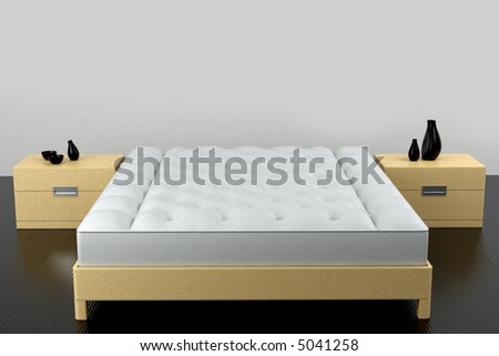 sleeping set. A front view is on a white background. 3d model