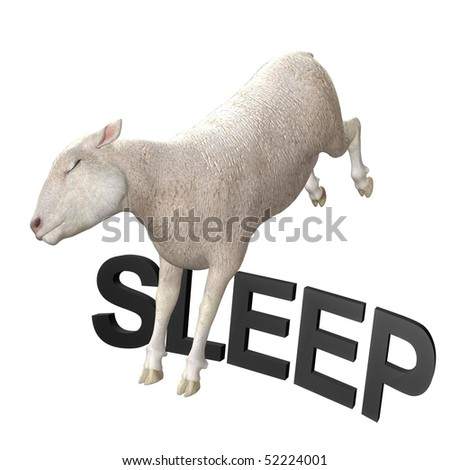 Sleeping sheep or lamb illustration