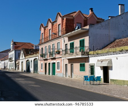 Sleepy street of Evora - Alentejo, Portugal - stock photo