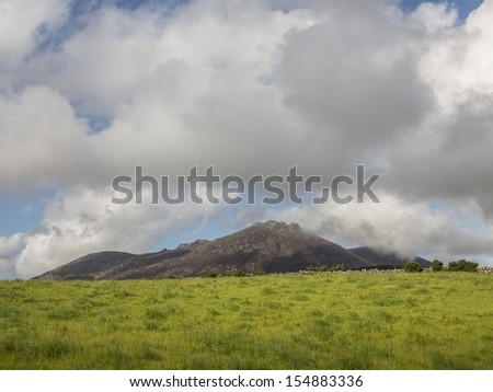 sleeve Binnian in the mourne mountain range of North Ireland