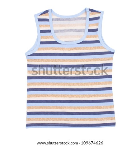 Sleeveless children's shirt isolated on white background. Clipping paths included.