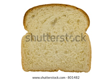 stock photo : Slice of bread