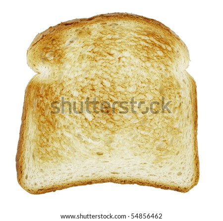 Slice of bread toasted,isolated on white with clipping path