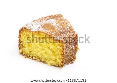 slice of cake isolated on white background - stock photo