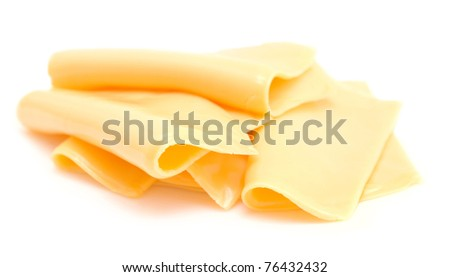 slice of cheese isolated on white (series)