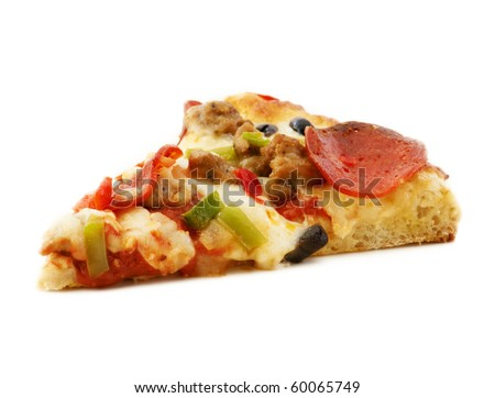Slice of everything pizza